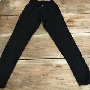 aerie Pants - Aerie Chill Play Move Black workout leggings